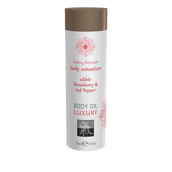 Luxe Eetbare Body Oil - Aardbei & Rode Peper